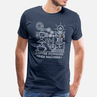 Kaffe Nørd Coffee powered Idea Machine - Herre premium T-shirt
