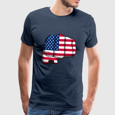 americain clenched fist flag poing drapeau - T-shirt Premium Homme