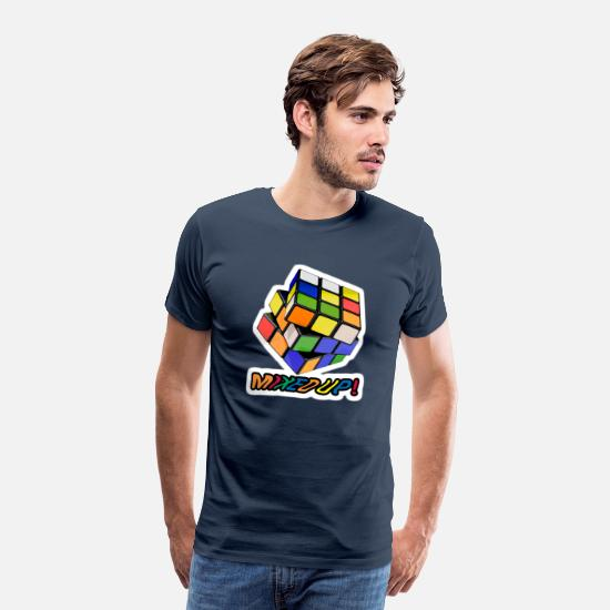 Rubiks T-shirts - Rubik's Mixed Up! - Mannen premium T-shirt navy