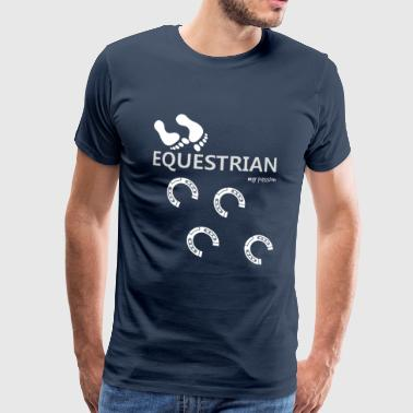 Gelding EQUESTRIAN DRESSAGE JUMPING HORSES HORSE RIDING ABOUT QRKA - Men's Premium T-Shirt