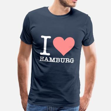 Hamburg Symbols I Love Hamburg - Men's Premium T-Shirt