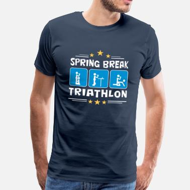 Bikini Thong Girls spring break triathlon - Men's Premium T-Shirt
