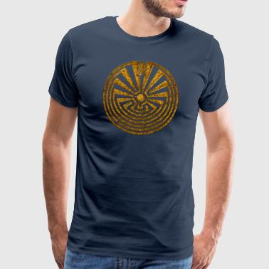 Man in the Maze, Journey through life, I'itoi, Pap - Männer Premium T-Shirt
