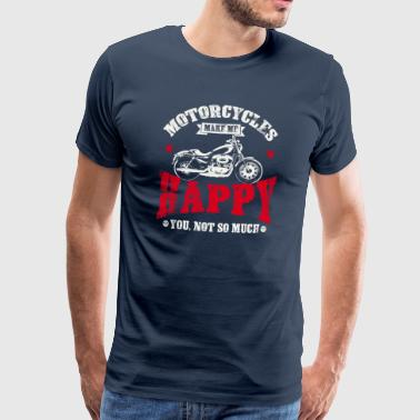 Bike Me Motorcycles make me happy Biker Spruch Lustig Bike - Men's Premium T-Shirt
