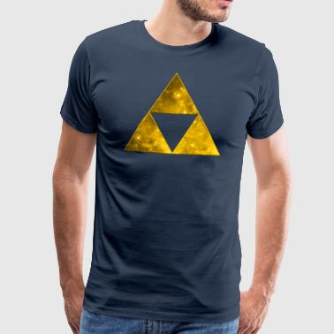 Space Triangle, Mathematics, Universe, Triforce,  - Men's Premium T-Shirt
