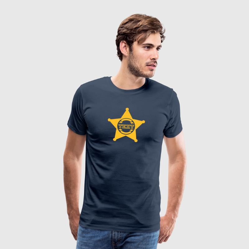 Sheriff Star, your text, Old West, Wild, America, - Men's Premium T-Shirt