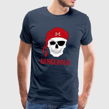 crâne pirate - T-shirt Premium Homme