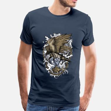 Animal Collection Fiskgjuse - Premium-T-shirt herr