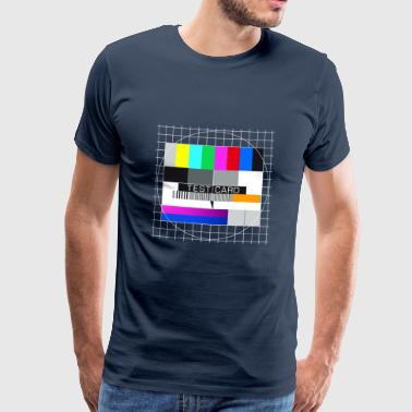 Fernseh-Testbild test card Vintage Retro TV-screen - Männer Premium T-Shirt