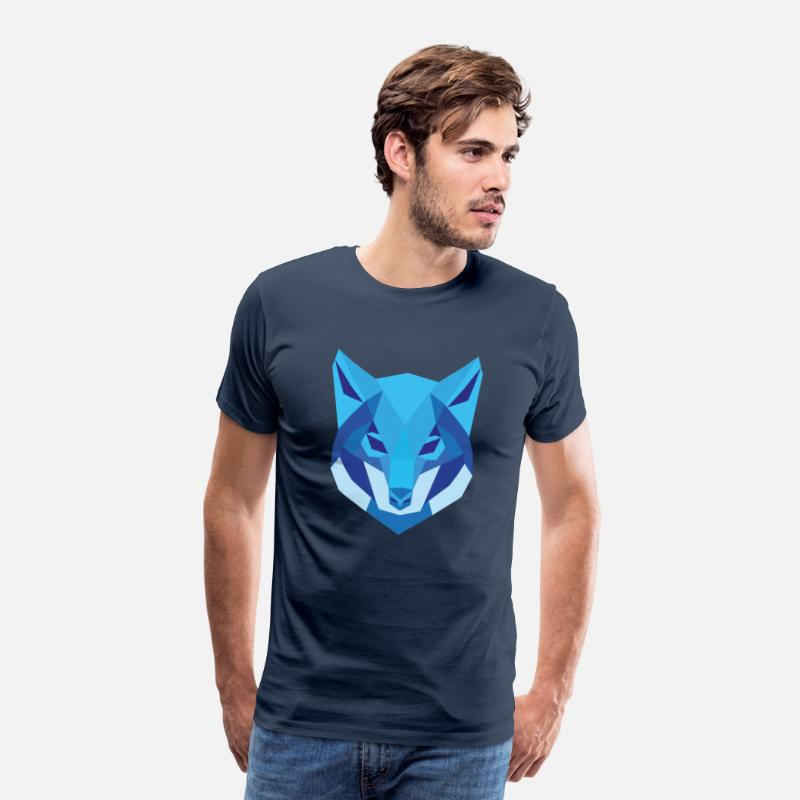 Boss T-Shirts - Wolf Low Polygon Wolf Low Poly Wolf - Men's Premium T-Shirt navy