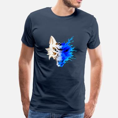 Graphic Pirates WOLF IN FLAMES - Men's Premium T-Shirt