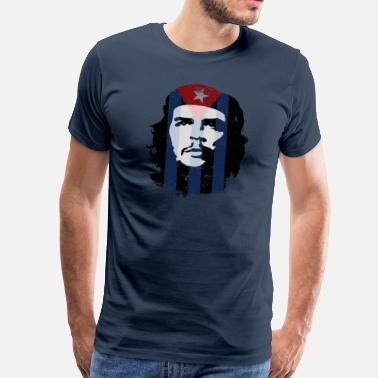 Officialbrands Che Guevara Flag Cuba - Men's Premium T-Shirt
