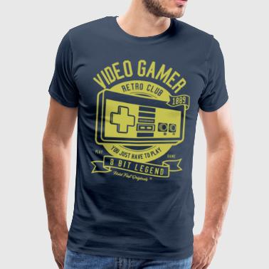 Retro Gamer Gold 1889 - Men's Premium T-Shirt