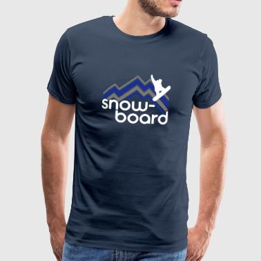 Snowboard - ski - snow - holiday après-ski - Men's Premium T-Shirt