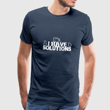 Tube à essai scientifique J'ai des solutions - T-shirt Premium Homme