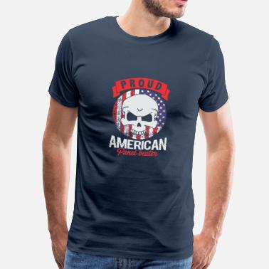 Panel Proud American Panel Beater Skull Flag - Men's Premium T-Shirt
