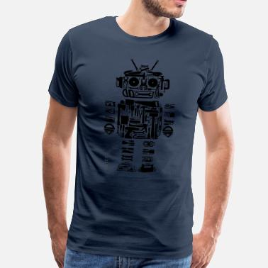 Quirky Toolbot T Green - Men's Premium T-Shirt