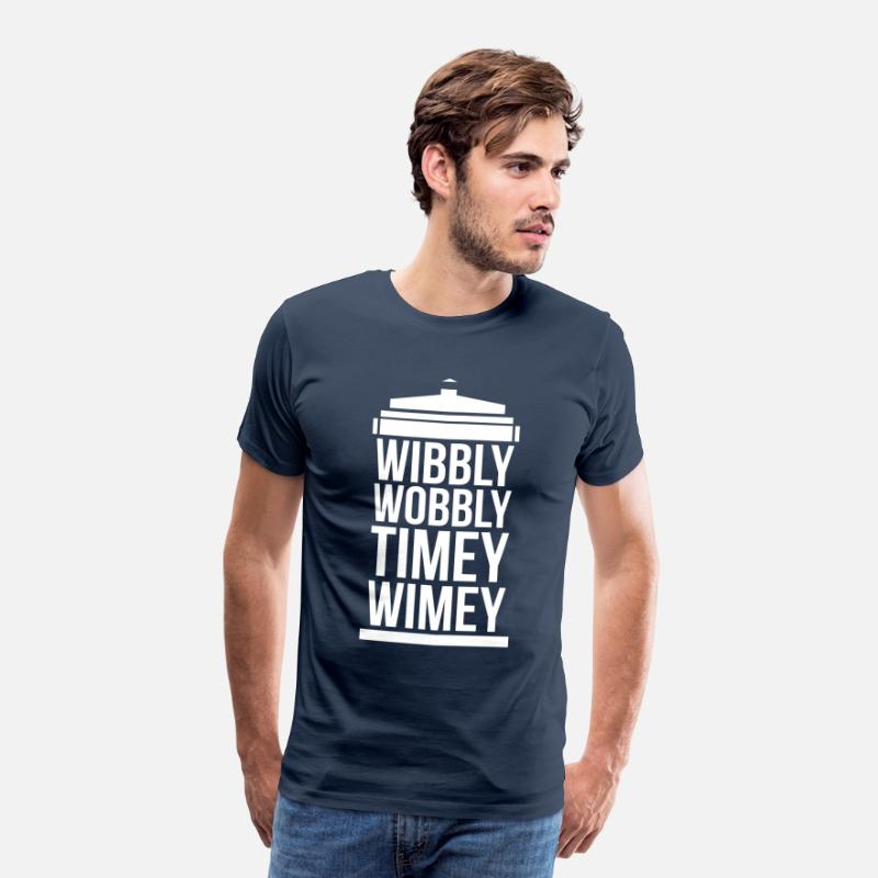 Doctor T-Shirts - wibbly wobbly timey wimey - Men's Premium T-Shirt navy