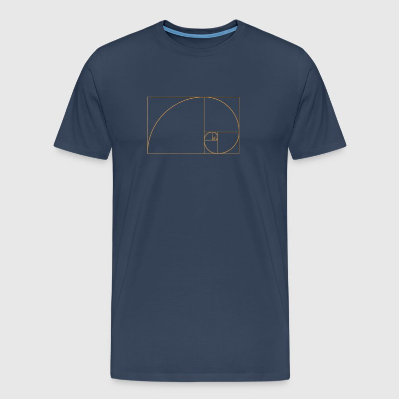 Spirale de Fibonacci, section doré, Phi, evolution - T-shirt Premium Homme