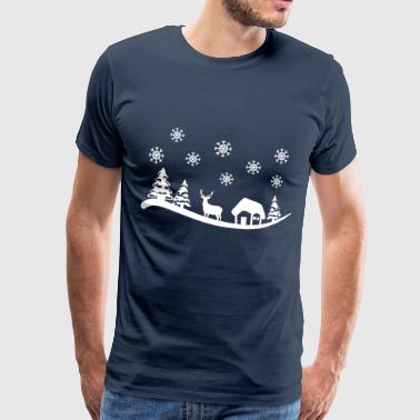 Winter Winter Landcape - Mannen Premium T-shirt
