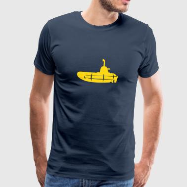 1 colour - Gelbes U-Boot schwarz - Yellow Submarine black - Maglietta Premium da uomo