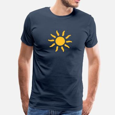 Sunshine sun sunshine symbols shapes - Men's Premium T-Shirt