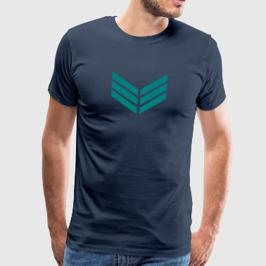 Feather Tip, arrow fletching, feather, spirit, bow - Mannen Premium T-shirt