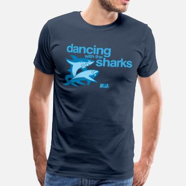 Rolig Animal Planet Humour Dancing With The Sharks - Premium-T-shirt herr