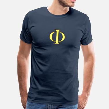 Fibonacci Phi - The Golden Mean - Plato - Sacred geometry - Men's Premium T-Shirt