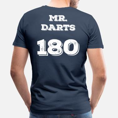Dart MR. DARTS 180 - Herre premium T-shirt