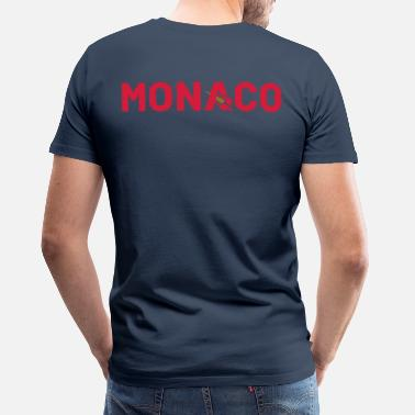 Monaco T-Shirt Monaco Bobsleigh Marine - Simple Shield  - T-shirt Premium Homme