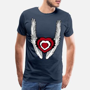 Angelwings A heavenly heart - Men's Premium T-Shirt