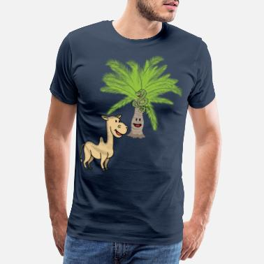 Toddler Camel Camels Palm Palm Trees Wilderness Wildlife - Men's Premium T-Shirt