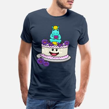 Toddler Kids birthday cake with horse fantasy kids - Men's Premium T-Shirt