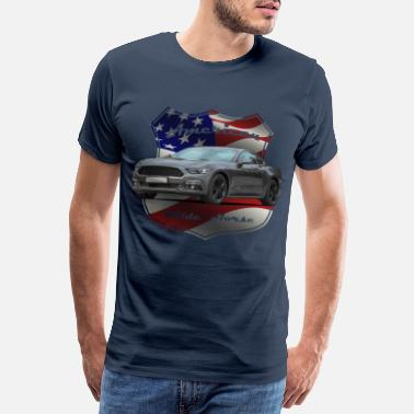 Car FoMu Vintage shield NoLogo 25 - Men's Premium T-Shirt