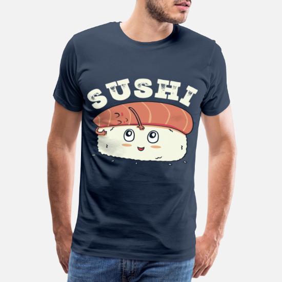 7d56b983ec Sushi Riso giapponese di pesce Maglietta premium uomo | Spreadshirt