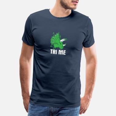 Geschiedenis Awesome Dinosaur Design Quote Tri Me Dino - Mannen premium T-shirt