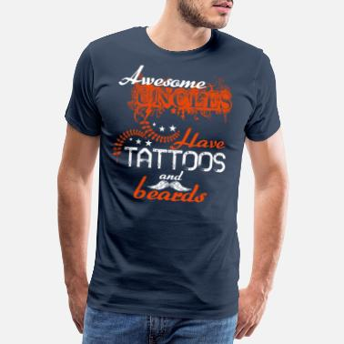 Awesome Uncles Have Tatoos And Beards - Men's Premium T-Shirt