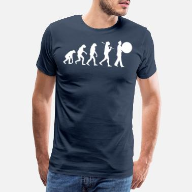 Grote Band Evolutie grote trom marching band - Mannen Premium T-shirt