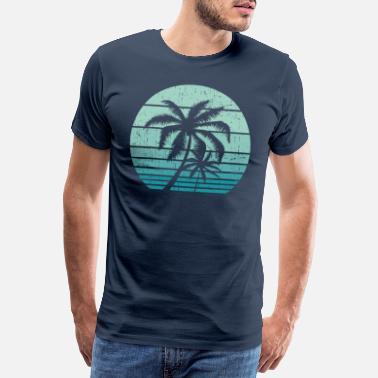 Hawaii Vintage Beach Retro California Palm Trees Tropical - Männer Premium T-Shirt
