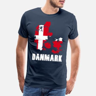 Copenhagen Denmark holiday flag - Men's Premium T-Shirt