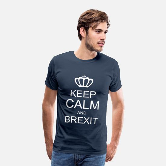 Brexit T-Shirts - KEEP CALM AND BREXITE - Men's Premium T-Shirt navy