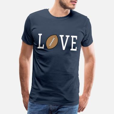 Love With Heart Älskar fotboll cool design - Premium T-shirt herr