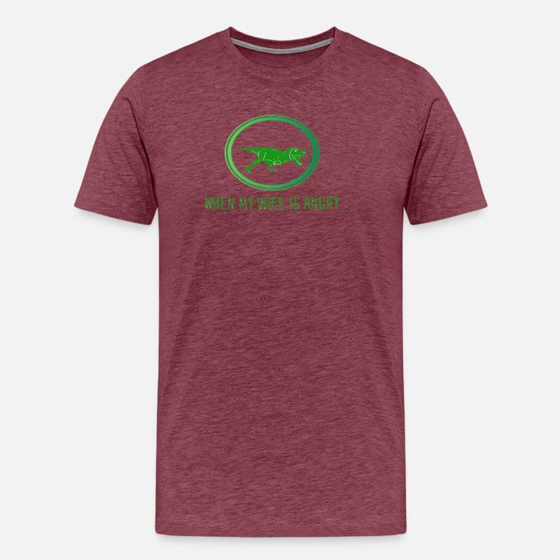 Design dinosaure mariage dans les vêtements pour hommes T-shirt premium  Homme  b895d470ce7