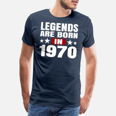 1969 Legends are born in 1970 - Männer Premium T-Shirt
