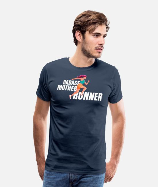 Competition T-Shirts - Jogger mother running MOM jogging Marathon - Men's Premium T-Shirt navy