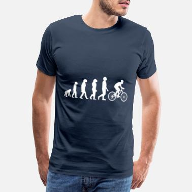 Primitive Man bike evolution - funny t-shirt - Men's Premium T-Shirt
