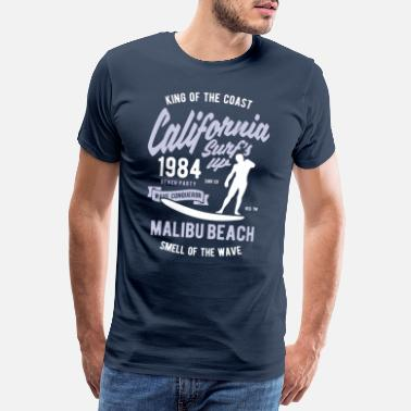 California California The King Of The Coast Surf Vintage - Men's Premium T-Shirt