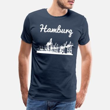 Michel Hamburg havn - Premium T-skjorte for menn