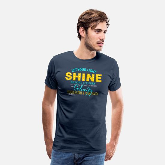 Light T-Shirts - Shine - Men's Premium T-Shirt navy